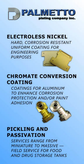 Palmetto Plating – Metal Finishing Services
