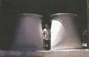 "A pair of 4-foot-diameter stainless steel ""square-round"" pipe fittings pickle-passivated for tunnel No. 3 water supply in New York City"