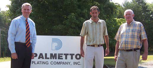 Congressman Gresham Barrett Visits Palmetto Plating
